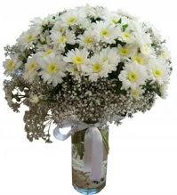 Vazoda beyaz papatyalar  Ankara Gölbaşı internetten çiçek siparişi