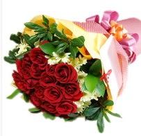 12 adet kırmızı gül ve papatyalar  Gölbaşına çiçek , çiçekçi , çiçekçilik