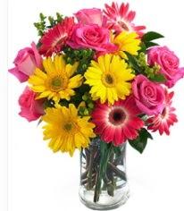 Vazoda Karışık mevsim çiçeği  Gölbaşı çiçek kaliteli taze ve ucuz çiçekler