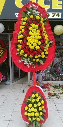 Çift katlı düğün nikah açılış çiçeği  Gölbaşına çiçek , çiçekçi , çiçekçilik