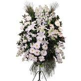 Gölbaşı Ankara çiçek yolla  Ferforje beyaz renkli kazablanka