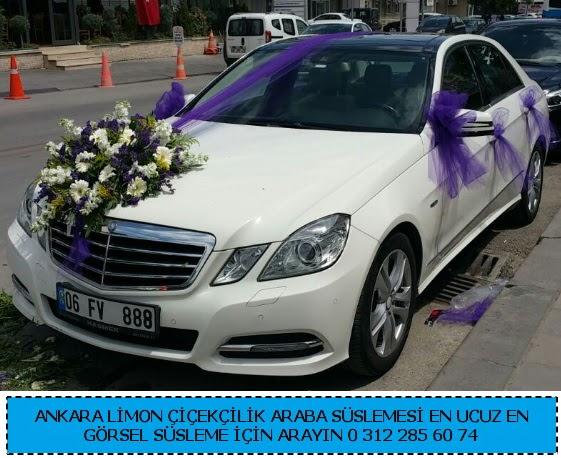 Ankara gelin arabası süslemesi  Gölbaşı çiçek gönder cicekciler , cicek siparisi