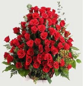 Kız isteme söz nişan çiçek sepeti 101 gül  Gölbaşı çiçek gönder cicekciler , cicek siparisi