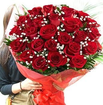 Kız isteme çiçeği buketi 33 adet kırmızı gül  Gölbaşı çiçek gönder cicekciler , cicek siparisi