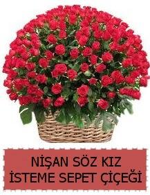 Kız isteme söz nişan çiçeği Sepeti 91 güllü  Gölbaşı çiçek gönder cicekciler , cicek siparisi