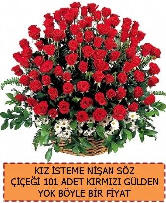 101 Güllü söz nişan kız isteme çiçeği  Ankara Gölbaşı hediye sevgilime hediye çiçek