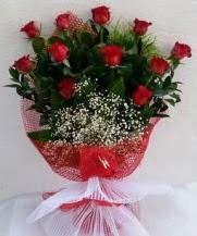 11 adet kırmızı gülden görsel çiçek  Ankara Gölbaşı hediye sevgilime hediye çiçek