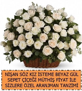 Söz nişan kız isteme çiçeği 33 beyaz gül  Gölbaşı çiçek gönder cicekciler , cicek siparisi