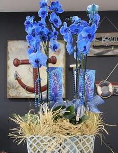4 dallı özel mavi orkide  Ankara çiçekçi Gölbaşı İnternetten çiçek siparişi