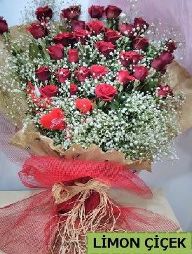 Kız isteme çiçeği buketi 33 kırmızı gülden  Gölbaşı çiçek siparişi yurtiçi ve yurtdışı çiçek siparişi
