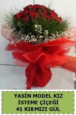 41 Adet kırmızı gül kız isteme çiçeği  Gölbaşı çiçek gönder cicekciler , cicek siparisi