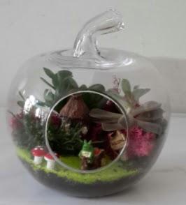 Elma cam orta boy terrarium teraryum  Ankara Gölbaşı 14 şubat sevgililer günü çiçek