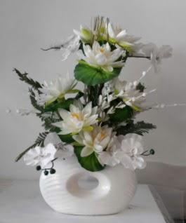 Porselen yapay çiçek tanzimi  Ankara Gölbaşı çiçekçi uluslararası çiçek gönderme