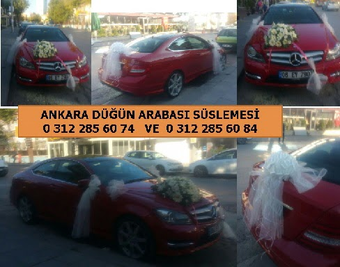 Düğün arabası süslemesi 11 beyaz gülden gelin çiçeği buketi hediye  Ankara Gölbaşı çiçekçi uluslararası çiçek gönderme