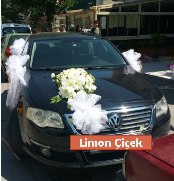 Gelin arabası süslemesi düğün arabası  Ankara Gölbaşı 14 şubat sevgililer günü çiçek