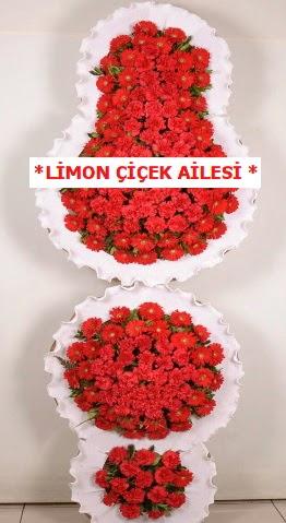 3 katlı kırmızı düğün açılış çiçeği  Ankara Gölbaşı 14 şubat sevgililer günü çiçek