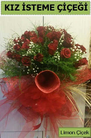 41 adet kırmızı gülden kız isteme buketi  Ankara Gölbaşı hediye sevgilime hediye çiçek