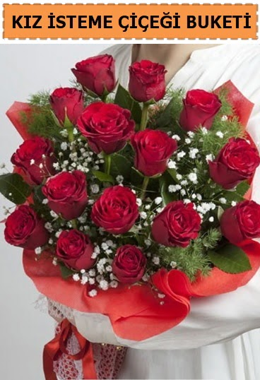 Kız isteme buketi çiçeği 17 gül  Gölbaşı anneler günü çiçek yolla