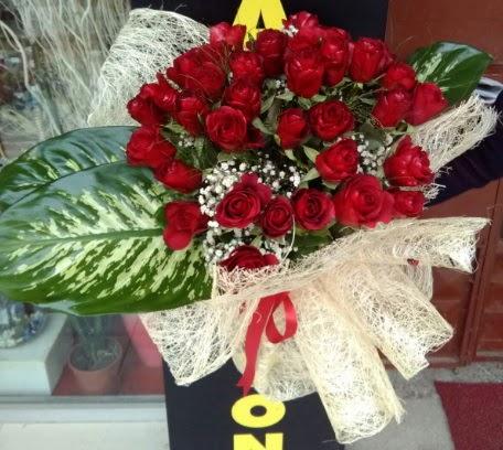 41 adet kırmızı gül Kız isteme çiçeği buketi  Gölbaşı anneler günü çiçek yolla