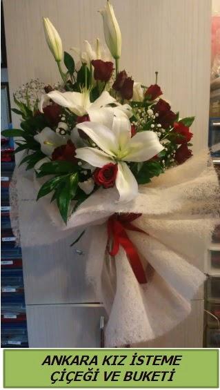 Kız isteme buketi çiçeği modelleri  Ankara Gölbaşı çiçekçi uluslararası çiçek gönderme