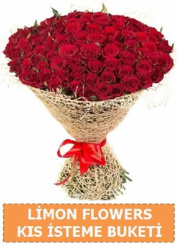 Kız isteme çiçeği modeli 61 adet gül  Ankara Gölbaşı 14 şubat sevgililer günü çiçek