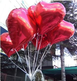 8 adet folyo kalp uçan balon  Gölbaşı ankara çiçek servisi , çiçekçi adresleri