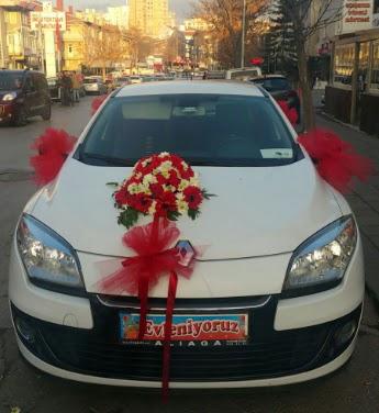 Araba süslemesi gelin arabası  Gölbaşı çiçek online çiçek siparişi
