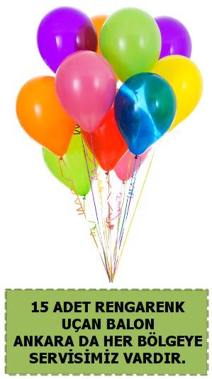 15 adet uçan balon rengarenk  Ankara Gölbaşı hediye sevgilime hediye çiçek
