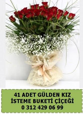 41 kırmızı gülden kız isteme çiçeği buketi  Gölbaşı çiçek gönder cicekciler , cicek siparisi w