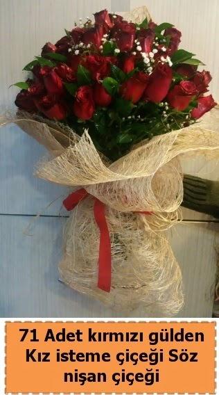 71 adet kırmızı gül söz nişan çiçeği  Ankara Gölbaşı hediye sevgilime hediye çiçek