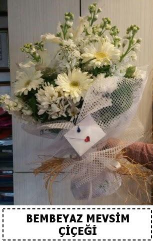 Bembeyaz görsel mevsim çiçek buketi  Ankara Gölbaşı çiçekçi uluslararası çiçek gönderme