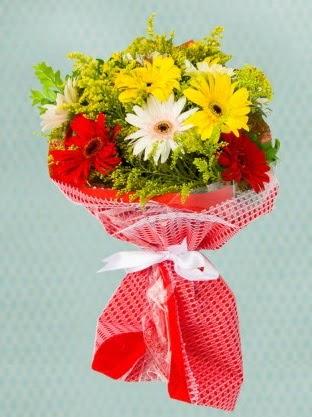 Karışık Gelbera Buketi  Gölbaşı çiçekçi güvenli kaliteli hızlı çiçek