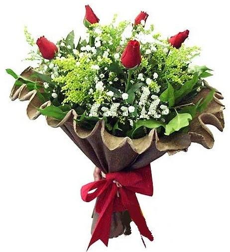 5 adet gülden buket  Gölbaşı çiçek gönder cicekciler , cicek siparisi