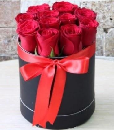 Kutu içerisinde 9 adet kırmızı gül  Gölbaşı çiçek yolla online çiçekçi , çiçek siparişi