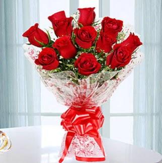 11 adet kırmızı gülden görsel şık buket  Gölbaşı ankara çiçek servisi , çiçekçi adresleri