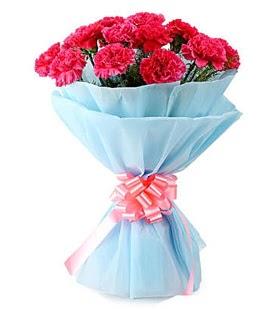 19 adet kırmızı karanfil buketi  Gölbaşına çiçek , çiçekçi , çiçekçilik