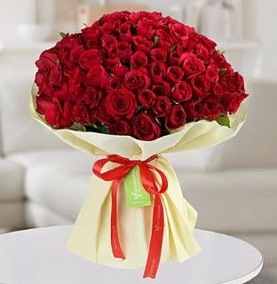 101 adet kırmızı gül buketi koca demet  Gölbaşı çiçek yolla , çiçek gönder , çiçekçi