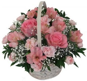 Karışık mevsim sepeti  ankara Gölbaşı çiçek mağazası , çiçekçi adresleri