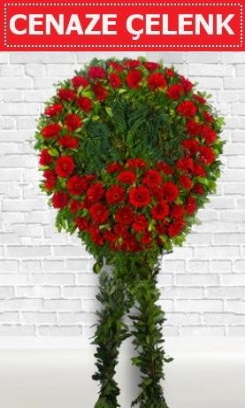 Kırmızı Çelenk Cenaze çiçeği  Ankaradaki çiçekçiler Gölbaşı cicek , cicekci