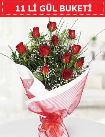 11 adet kırmızı gül buketi Aşk budur  Gölbaşı çiçek gönder cicekciler , cicek siparisi