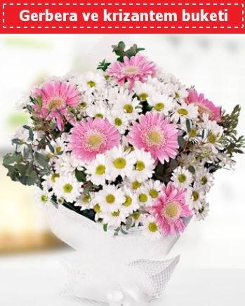 Papatya ve Gerbera Buketi  Gölbaşı çiçek online çiçek siparişi