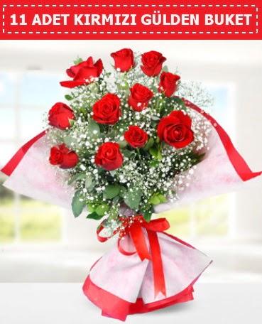 11 Adet Kırmızı Gül Buketi  Gölbaşı çiçek yolla , çiçek gönder , çiçekçi