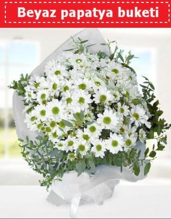 Beyaz Papatya Buketi  Ankara Gölbaşındaki çiçekçiler ankara çiçek satışı