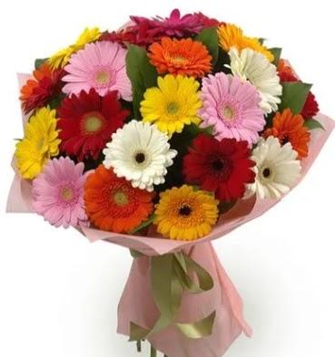 Karışık büyük boy gerbera çiçek buketi  Ankara Gölbaşı hediye sevgilime hediye çiçek