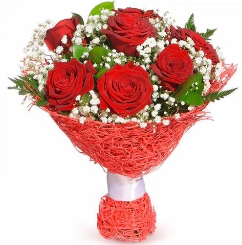 7 adet kırmızı gül buketi  Gölbaşı çiçek yolla online çiçekçi , çiçek siparişi