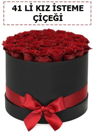 41 li kız isteme kutuda çiçek  Gölbaşı ankara çiçek servisi , çiçekçi adresleri