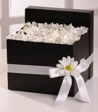 Kutuda beyaz krizantem papatya çiçekleri  Gölbaşı çiçekçi güvenli kaliteli hızlı çiçek