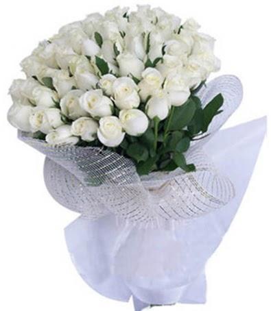 41 adet beyaz gülden kız isteme buketi  Gölbaşı çiçekçi güvenli kaliteli hızlı çiçek