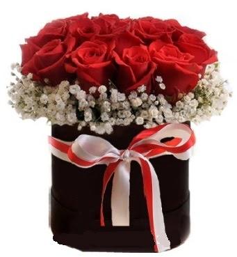 Siyah kutuda 23 adet kırmızı gül tanzimi  Gölbaşı çiçek gönder cicekciler , cicek siparisi