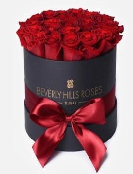 Siyah kutuda 25 adet kırmızı gül tanzimi  Ankaradaki çiçekçiler Gölbaşı cicek , cicekci